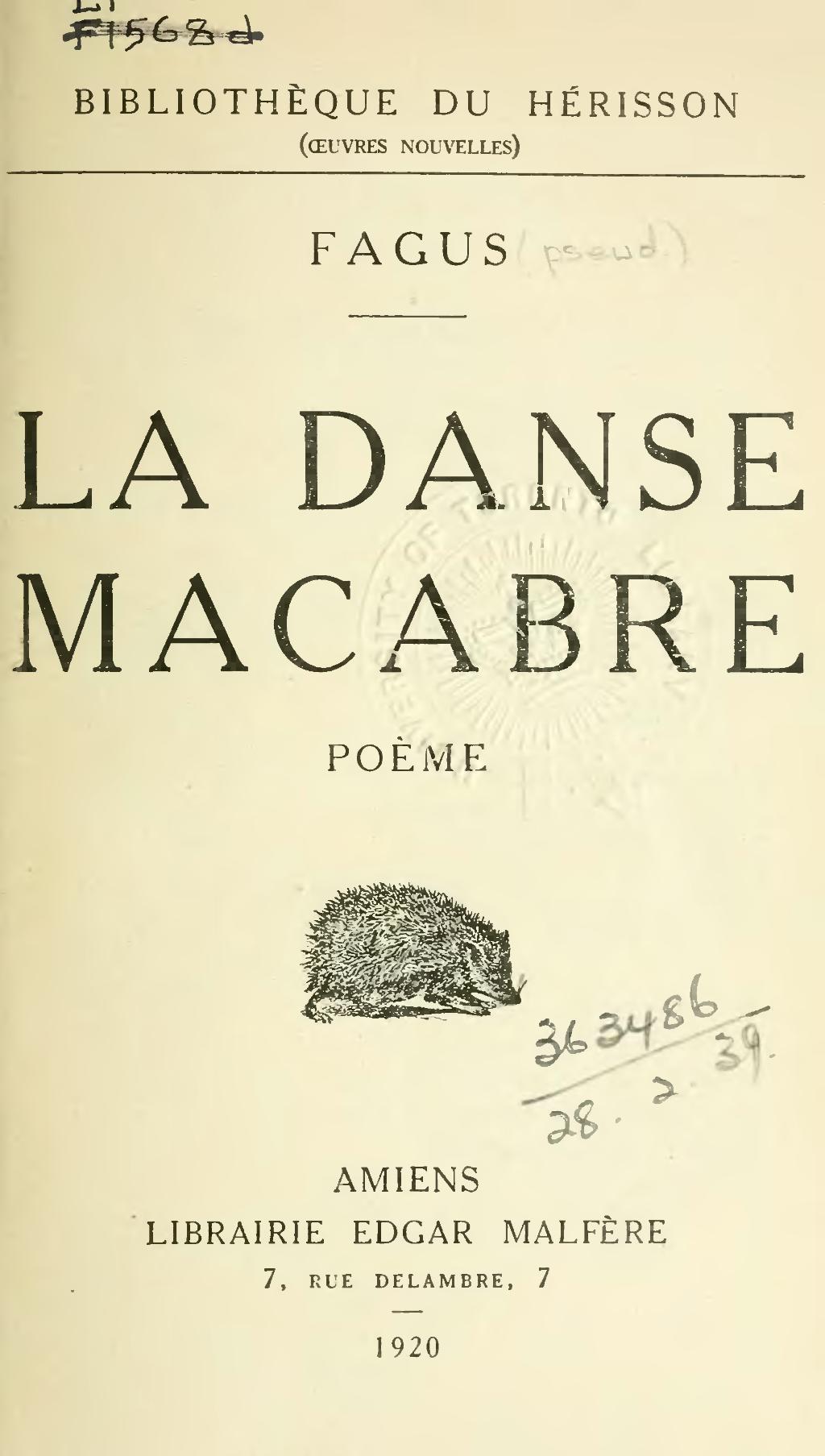 Pagefagus La Danse Macabre 1920djvu7 Wikisource