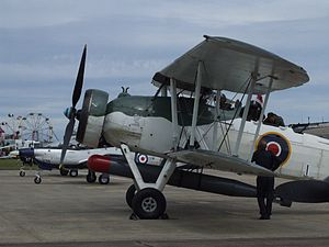 Brighton City Airport - Fairey Swordfish torpedo bomber at 2011 airshow.
