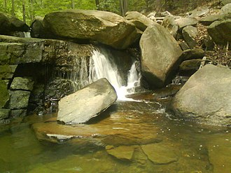 Hacklebarney State Park - One of the waterfalls at Hacklebarney State Park, New Jersey
