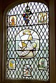 Farleigh Hungerford Castle - Stain Glass Window in Chapel - geograph.org.uk - 197278.jpg