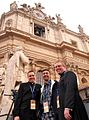 Father Dave Dwyer Lino Rulli and Father Rob Keighron in Rome.jpg
