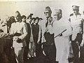 Fazal Ahmad Ghazi,on the left, Qazi Muhammad Esa, in the center and Liaquat Ali Khan on the right with Quaid E Azam Muhammad Ali Jinnah, at Quetta Baluchistan. A memorable pic.jpg