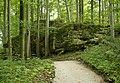 Felsengarten Sanspareil Fels der Liebe und Pansitz 001.JPG