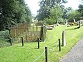 Fenced memorial within the churchyard at St James, Shipton - geograph.org.uk - 1446562.jpg