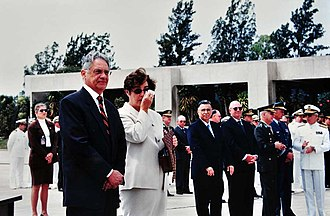 Ruth Cardoso - The President and First Lady attend a military ceremony.