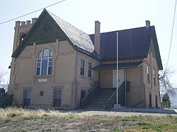 Originally a Presbyterian school, this Ferron landmark has been home to American Legion Post 42 since 1942, April 2008