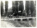 Field Artillery marching over a bridge (St Floris, France). Photographer- H. D. Girdwood. (13874325075).jpg