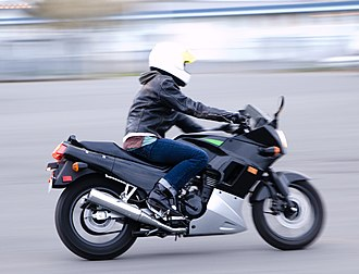 Sport bike - The Kawasaki Ninja 250R lightweight sport bike.
