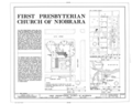 First Presbyterian Church of Niobrara, Southeast corner of Sixth and Maple Streets, Niobrara, Knox County, NE HABS NEB,54-NIOB,4- (sheet 1 of 4).png