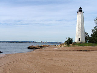 Five Mile Point Light lighthouse in Connecticut, United States