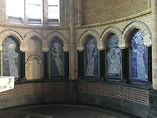 Five tile tableaus in chapel