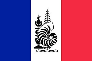 Flag of New Caledonia - Image: Flag of New Caledonia with Emblem