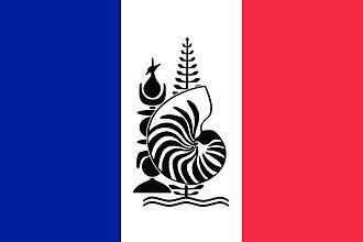 Flag of New Caledonia - Image: Flag of New Caledonia with Emblem