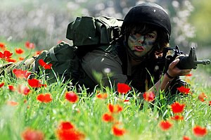 Women in the Israel Defense Forces -  Female soldier of the Search and Rescue Unit receives combat training