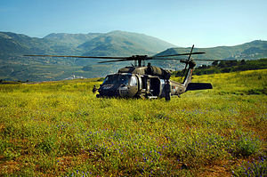 124 Squadron (Israel) - 124 Squadron Blackhawk on the Golan Heights