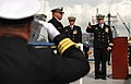 Flickr - Official U.S. Navy Imagery - Cmdr. Richard Meyer salutes during the decommissioning of USS John L. Hall..jpg