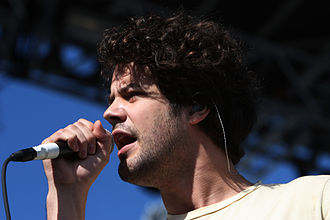 Michael Angelakos - Michael Angelakos fronting Passion Pit at the Treasure Island Music Festival in 2009
