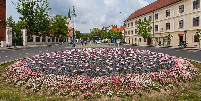 File:Flores en la calle Kaptol, Zagreb, Croacia, 2014-04-13, DD 01.JPG