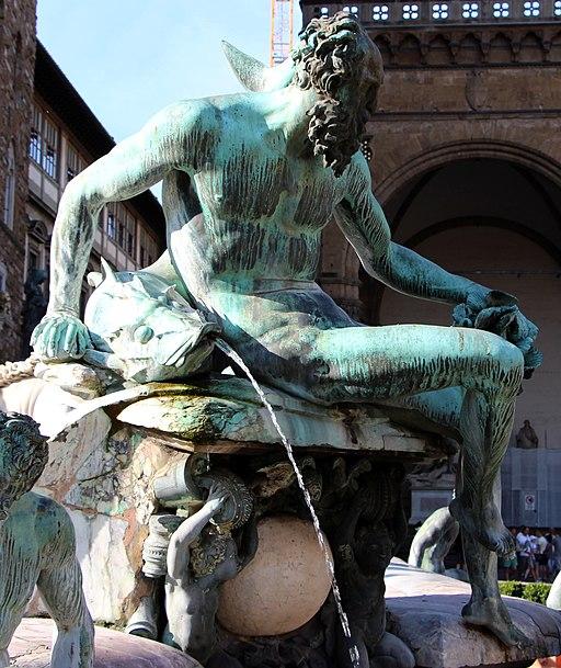 Giambologna e Bartolomeo Ammannati, Fontana del Nettuno (particolare Triton del Giambologna), Piazza della Signoria, Firenze