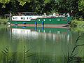 Fontet, Gironde, Canal latéral à la Garonne, la péniche Silène (2).JPG