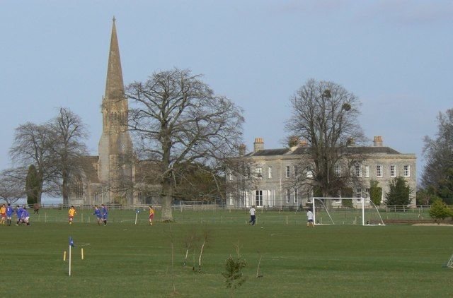 Football practice in front of Kingweston Church - geograph.org.uk - 668480