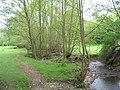 Footbridge carrying the Offa's Dyke path over a small stream near Mardu - geograph.org.uk - 818224.jpg