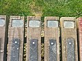 Footpath treads with dedications at Lochnagar crater, Albert.jpg