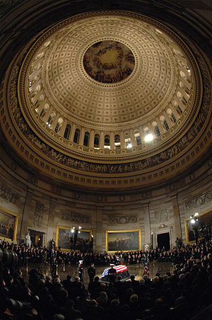 Death and state funeral of Gerald Ford - Ford is honored during a memorial service in the U.S. Capitol Rotunda in Washington, D.C., December 30, 2006.