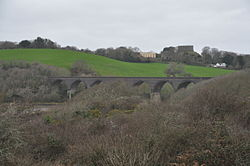 Forder viaduct and Trematon Castle (2001).jpg