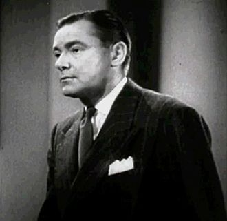 Herbert Marshall - Marshall in the trailer of Foreign Correspondent (1940)