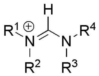 Amidine - general structure of a formamidinium cation