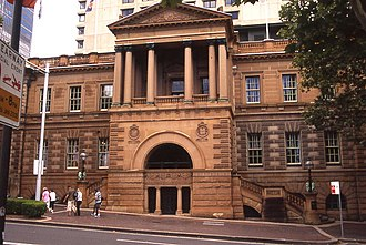 Treasurer of New South Wales - The old Treasury Building, designed by Mortimer Lewis (1849). The Treasury building was completed by Edmund Blacket and opened on the 17 October 1851. The Treasury moved to the State Office Block in 1967. In 1995 the Treasury moved to Governor Macquarie Tower in Farrer Place.