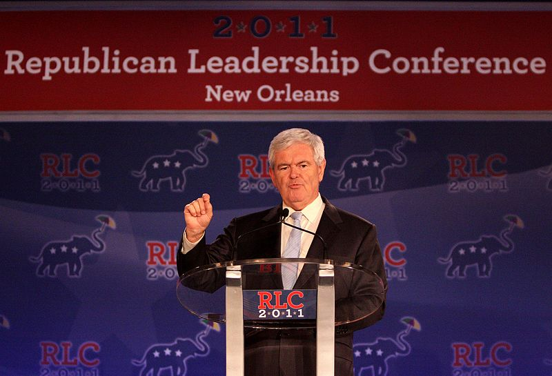 Former Speaker of the U.S. House Newt Gingrich speaking at the Republican Leadership Conference in New Orleans, Louisiana.jpg