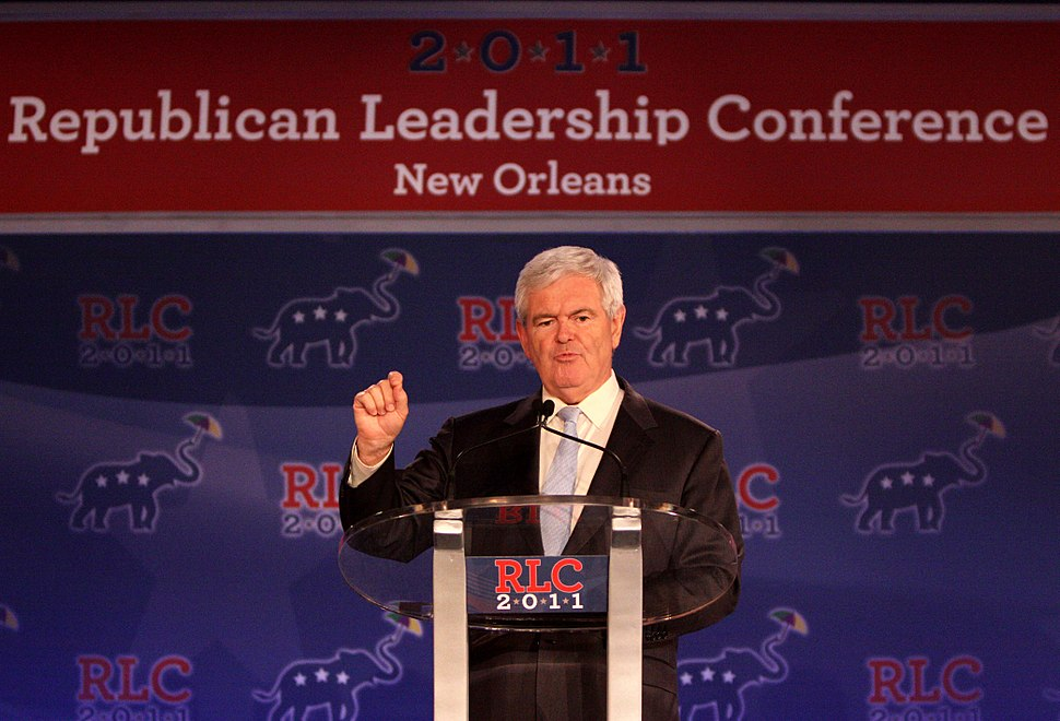 Former Speaker of the U.S. House Newt Gingrich speaking at the Republican Leadership Conference in New Orleans, Louisiana