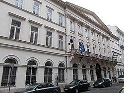 Former Tanzer House. Akadémia street side. Listed monument ID 417 - Budapest District V., Arany János St. 3-5 and Akadémia St. 3.JPG