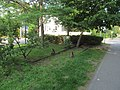 Former siding next to Russell Place, Arlington, MA, July 2015.JPG