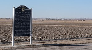 National Register of Historic Places listings in Scotts Bluff County, Nebraska - Image: Fort Mitchell, Nebraska historical marker 3