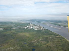 Aerial view of Fort Severn, Summer 2015