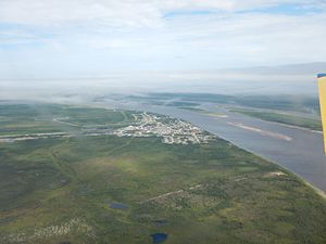Fort Severn First Nation - Aerial view of Fort Severn, Summer 2015
