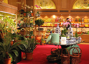 Fortnum & Mason - The fruit and flowers section on the ground floor of Fortnum and Mason