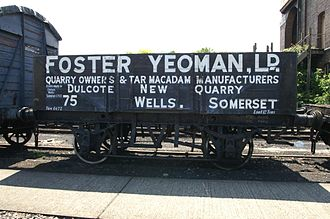 Mineral wagon - A preserved 6-plank wagon of the Foster Yeoman company at Didcot Railway Centre