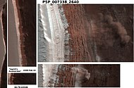 Four Martian avalanches, 2008.jpg