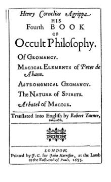 Fourth Book of Occult Philosophy, 1655.djvu