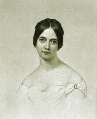 Frances Sargent Osgood - Engraving of Frances Osgood from her 1850 collection of poetry