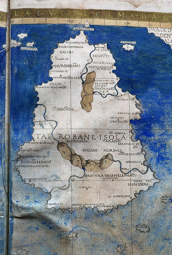 セイロンのトレミックマップ(1482)