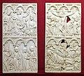 Francia settentrionale o germania occidentale, ante di dittico con adoraz. dei magi, annunciaz., visitaz., natività e crocifissione, 1370-1400 ca.jpg