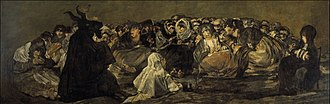 Witches' Sabbath (Goya, 1798) - Witches' Sabbath 1821-1823, 140cm x 438cm, Museo del Prado