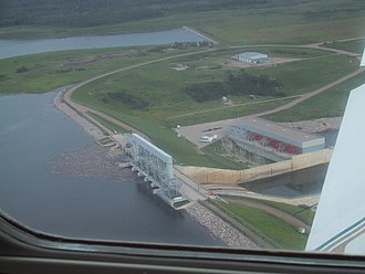 Tobin Lake - Francois Finlay dam and Nipawin Hydroelectric Generating Station