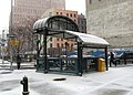 Franklin St IRT sta in snow jeh.jpg