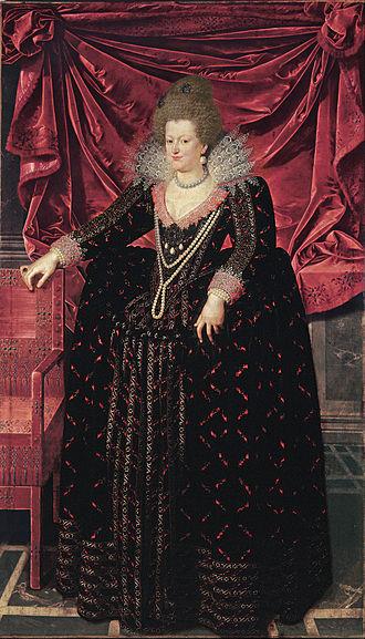 Marie de' Medici - María de Médici, by Frans Pourbus, c. 1606, Museo de Bellas Artes de Bilbao.